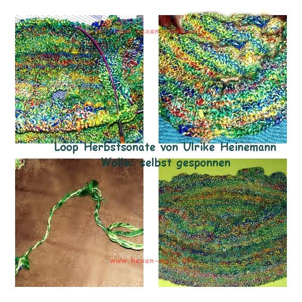 Loop Herbstsonate Wolle: selbst gesponnen